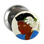 Woman w/Gardenias in Her Hair Button