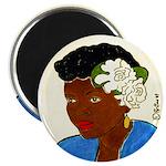 Woman w/Gardenias in Her Hair Magnet