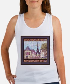 Paris EIffel Tower pointillism landscape Tank Top