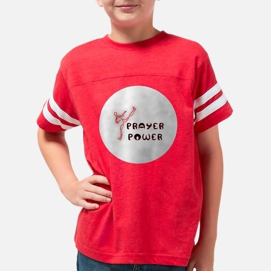 5-prayer power button Youth Football Shirt