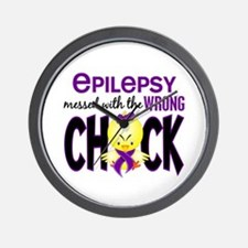 Epilepsy Messed With the Wrong Chick Wall Clock