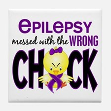 Epilepsy Messed With the Wrong Chick Tile Coaster