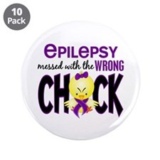 "Epilepsy Messed With the Wrong Chick 3.5"" Button ("