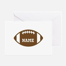 Custom Football Greeting Card