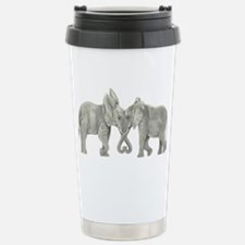Elephants in Love Travel Mug
