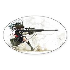 Anime Sniper Girl Decal