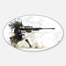 Anime Sniper Girl Decal