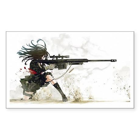 Anime sniper girl sticker rectangle by admin cp113828945 - Anime sniper girl ...