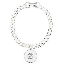 My Greyhound makes me happy Charm Bracelet, One Ch