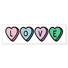 Love (Candy Hearts) Bumper Bumper Sticker