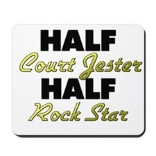 Half Court Jester Half Rock Star Mousepad