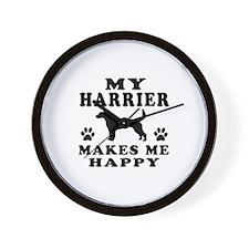 My Harrier makes me happy Wall Clock