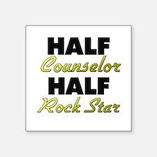 Half Counselor Half Rock Star Sticker