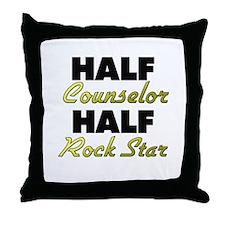 Half Counselor Half Rock Star Throw Pillow