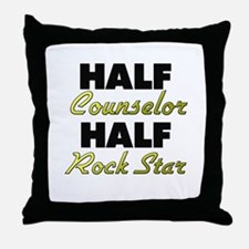 Half Counselor Half Rock Star Throw Pillow