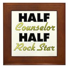 Half Counselor Half Rock Star Framed Tile