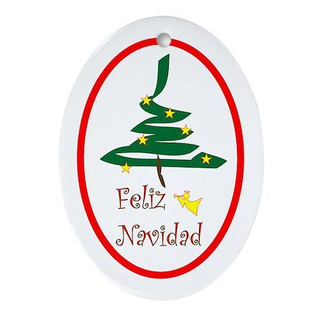 Spanish Christmas Oval Ornament