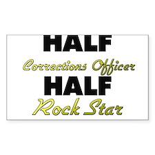 Half Corrections Officer Half Rock Star Decal