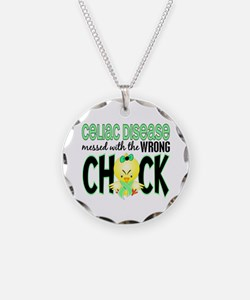 Celiac Disease Messed With Wrong Chick Necklace