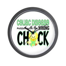 Celiac Disease Messed With Wrong Chick Wall Clock
