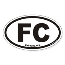 Fall City Washington FC Euro Oval Decal