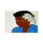 Woman w/Gardenias in Her Hair Rect.Magnet 100 pack