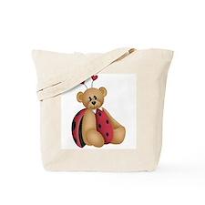 Ladybug Bear Tote Bag