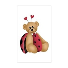 Ladybug Bear Rectangle Decal