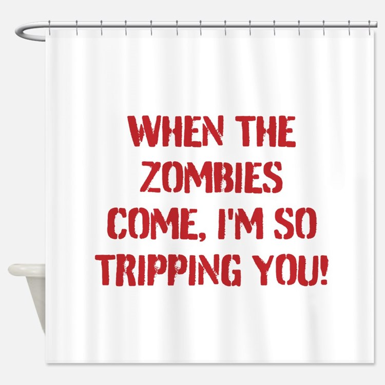 Zombie Baby Shower Curtains