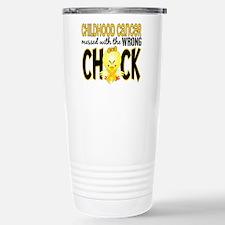 Childhood Cancer Messed With Wrong Chick Travel Mug