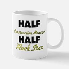 Half Construction Manager Half Rock Star Mugs