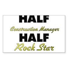Half Construction Manager Half Rock Star Decal