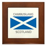 Cambuslang Scotland Framed Tile
