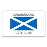 Cambuslang Scotland Sticker (Rectangle 50 pk)