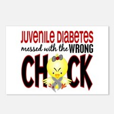 Juvenile Diabetes Messed With Wrong Chick Postcard