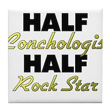 Half Conchologist Half Rock Star Tile Coaster