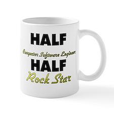 Half Computer Software Engineer Half Rock Star Mug