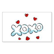 Hugs & Kisses XOXO Rectangle Decal