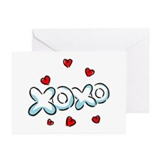 Hugs & Kisses XOXO Greeting Cards (Pk of 10)