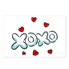 Hugs & Kisses XOXO Postcards (Package of 8)