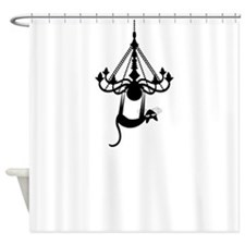 Swinging Kitty Shower Curtain