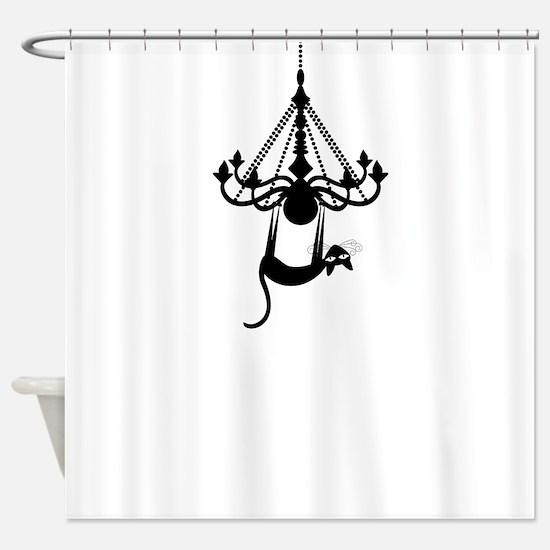 Swinging Kitty Shower Curtain