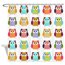 Fat Owls Shower Curtain