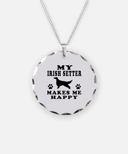 My Irish Setter makes me happy Necklace