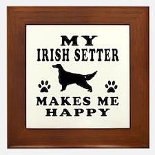 My Irish Setter makes me happy Framed Tile