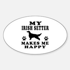 My Irish Setter makes me happy Decal