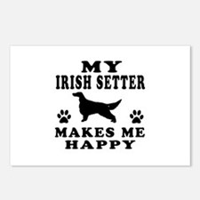 My Irish Setter makes me happy Postcards (Package