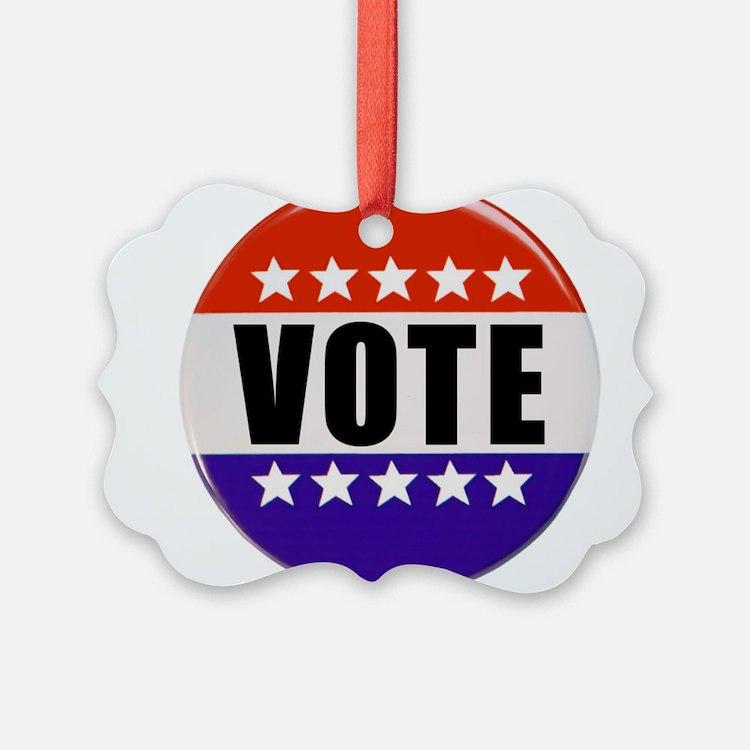 Vote Button Ornament
