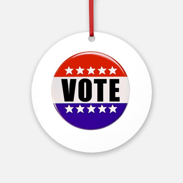 Vote Button Ornament (Round)
