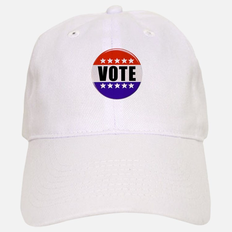 Vote Button Baseball Baseball Baseball Cap